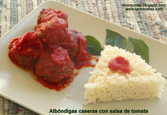 albóndigas caseras con salsa de tomates 01