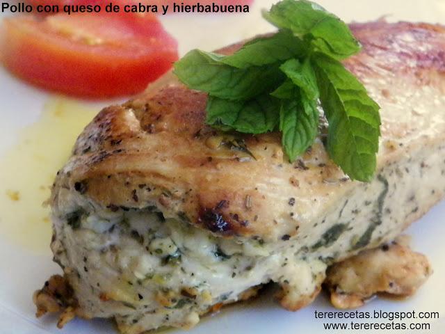 Pollo con queso de cabra y hierbabuena 01