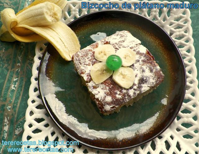 bizcocho de plátano maduro 02