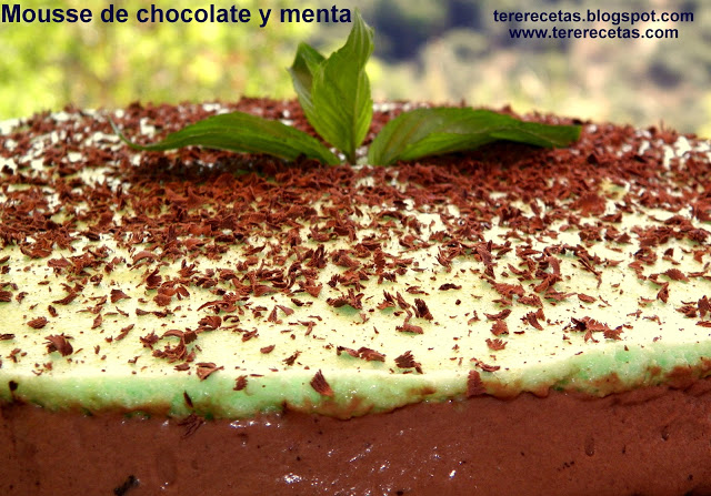 mousse de chocolate y menta