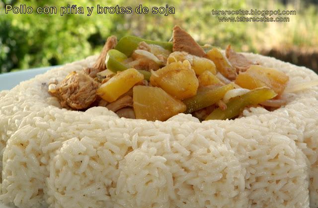 pollo con piña y brotes de soja 01