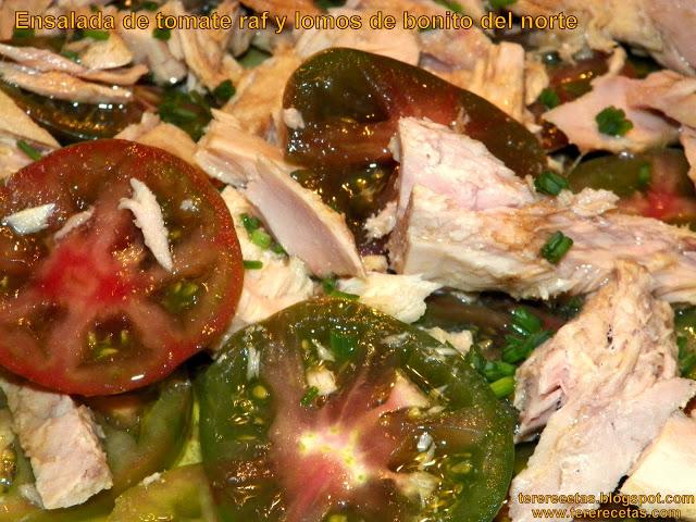 ensalada de tomates raf y bonito