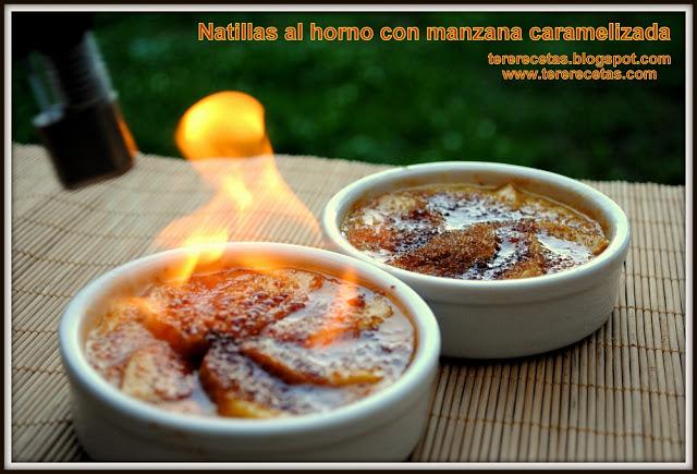 Natillas al horno con manzana caramelizada, receta de la abuela 01
