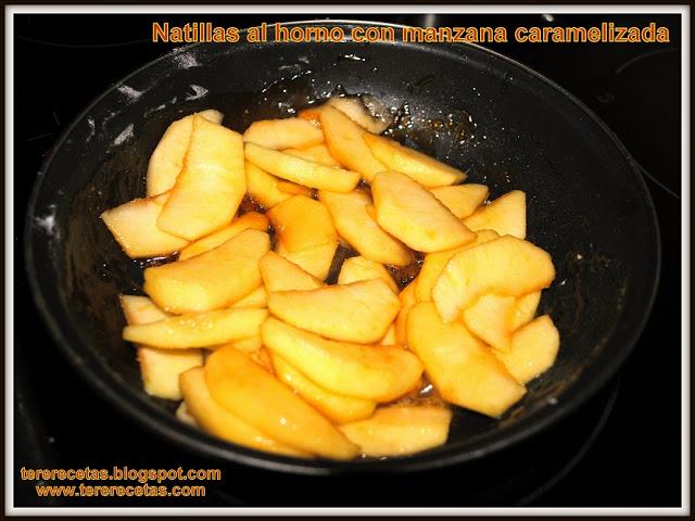 Natillas al horno con manzana caramelizada, receta de la abuela 02