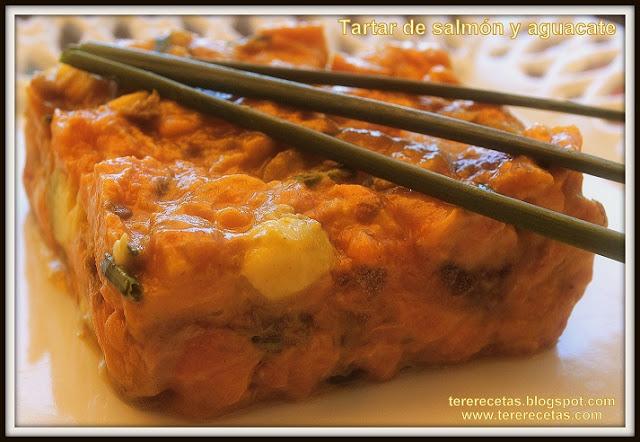 tartar de salmón y aguacates receta casera 01