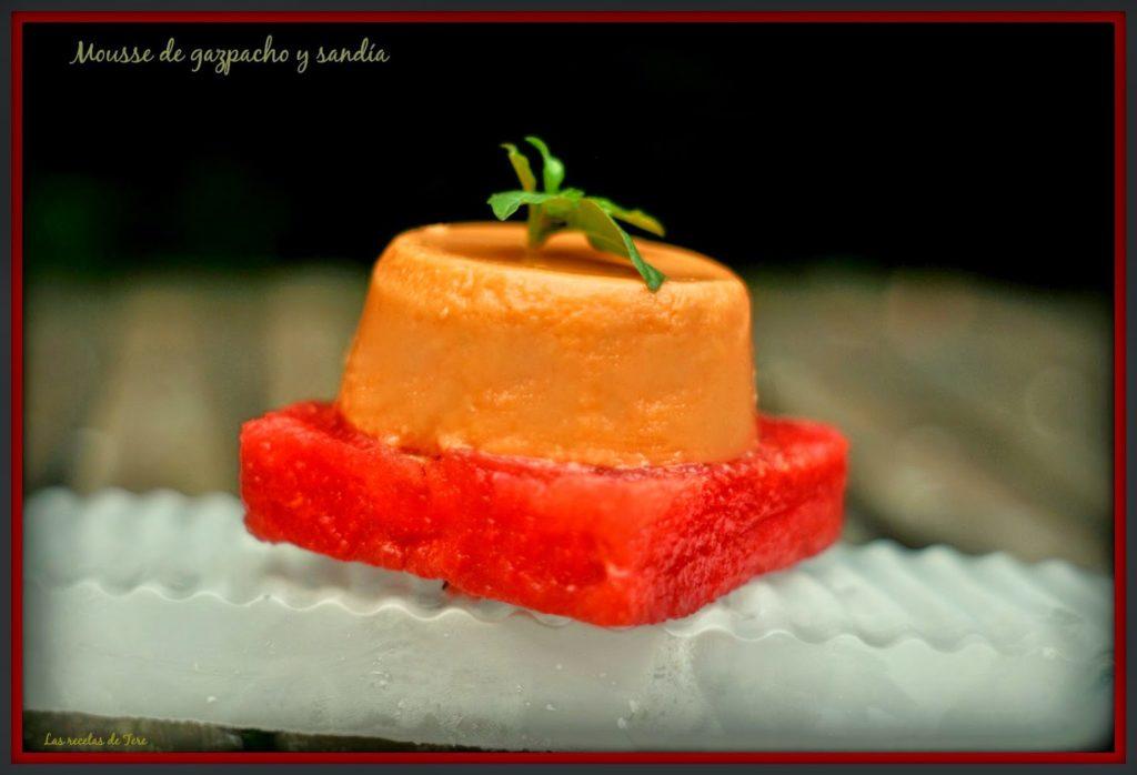 mousse de gazpacho y sandía 01