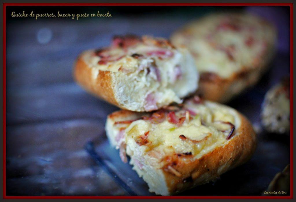 Quiche de puerros, bacon y queso en bocata 05