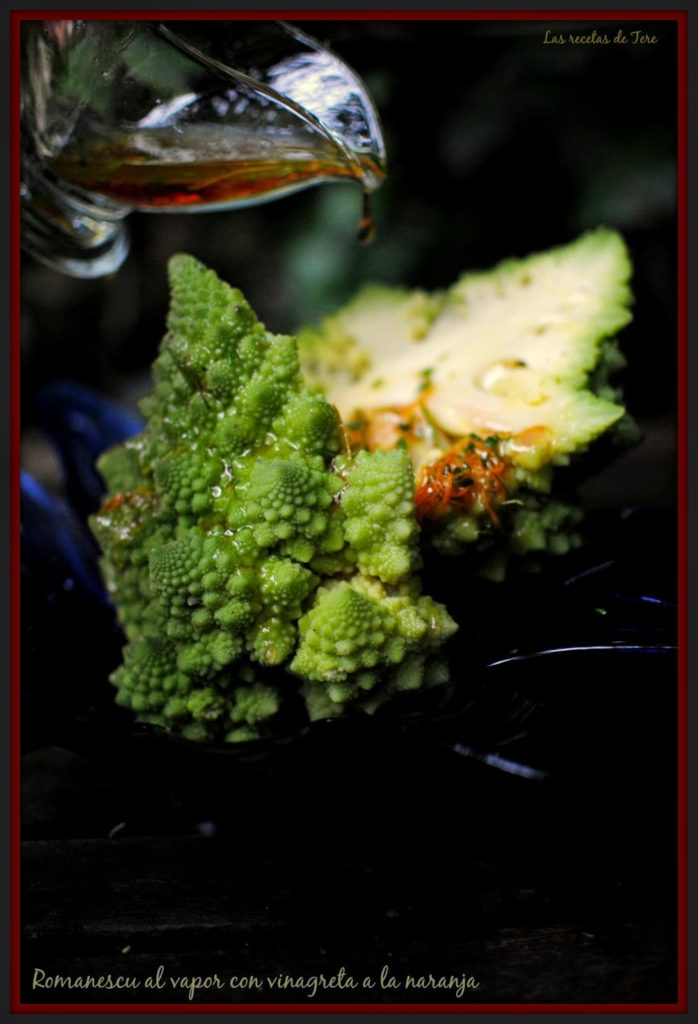 Romanescu al vapor con vinagreta a la naranja tererecetas 05