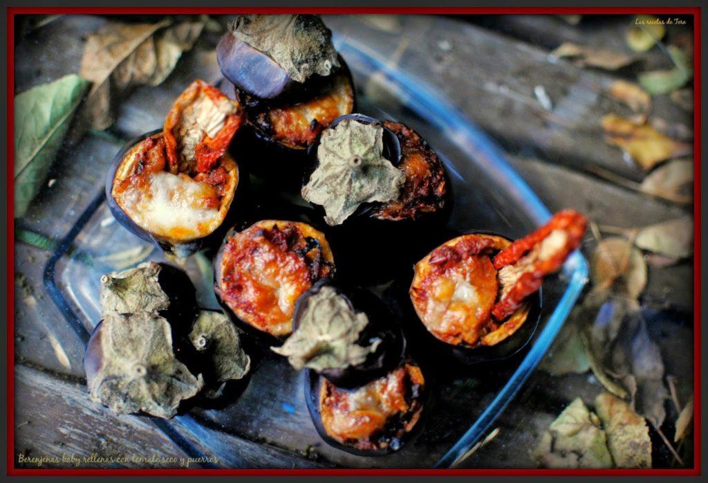 Berenjenas baby rellenas con tomate seco y puerros 04