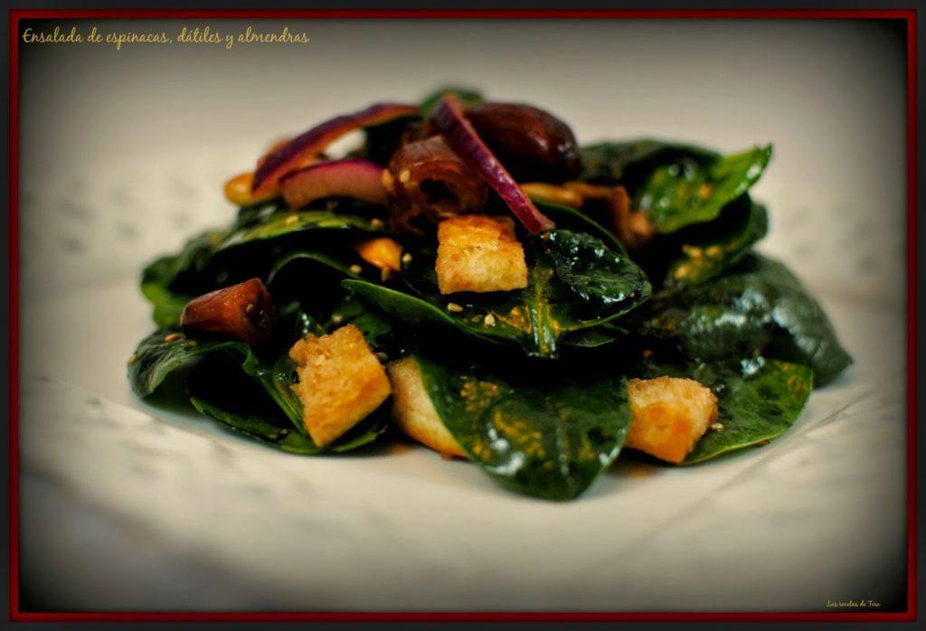 ensalada de espinacas dátiles y almendras tererecetas 03