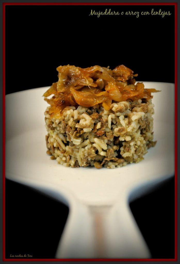 Mujaddara o arroz con lentejas tererecetas 02