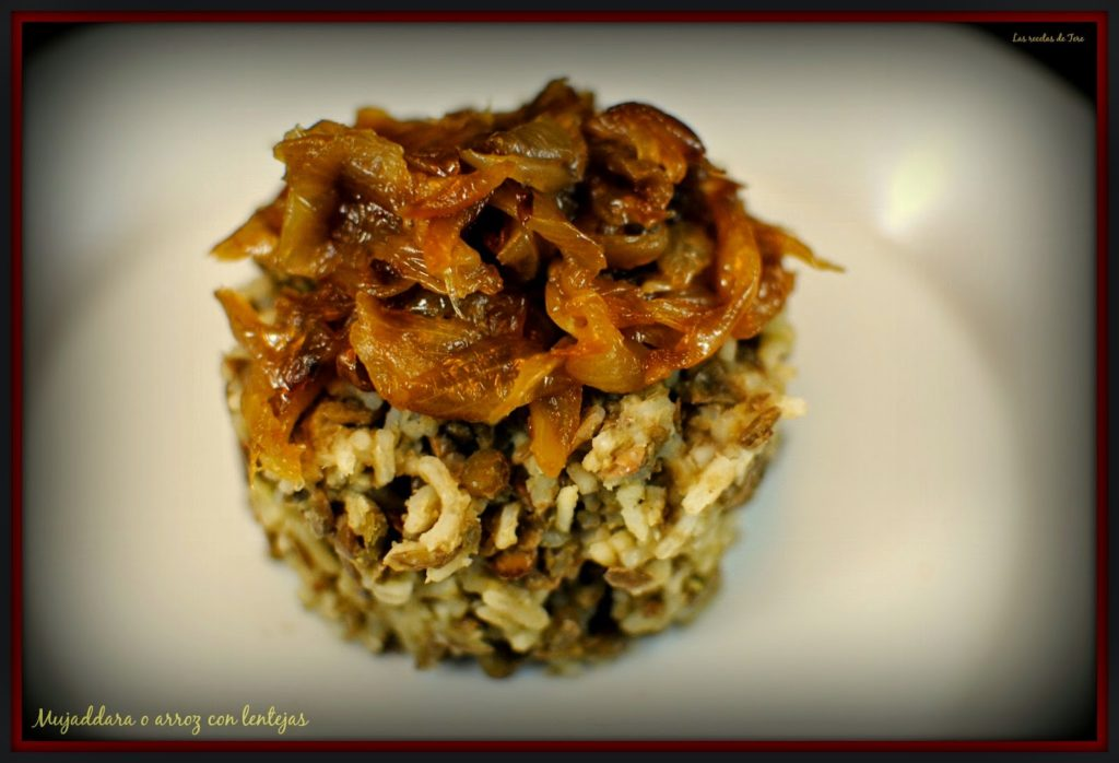 Mujaddara o arroz con lentejas tererecetas 04