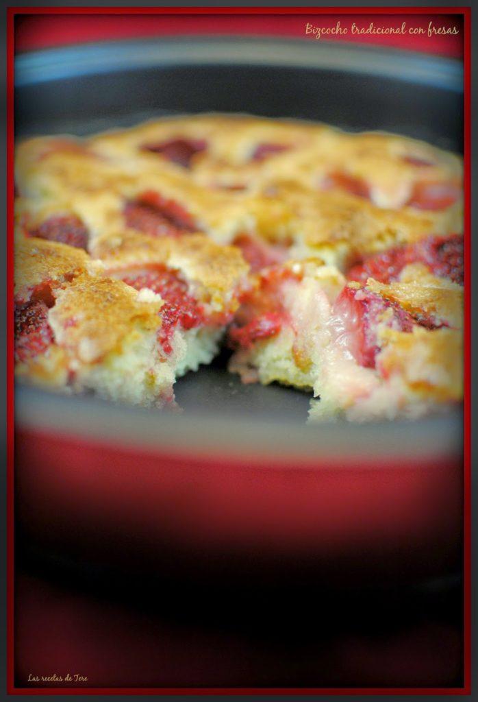 bizcocho tradicional con fresas tererecetas 05
