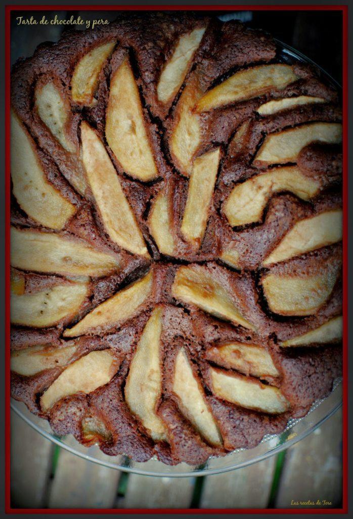 tarta de chocolate y pera tererecetas 05