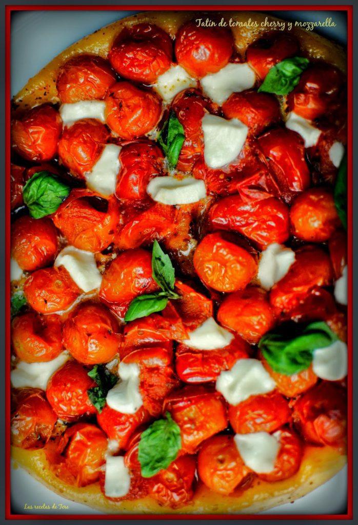 tatín de tomates cherry y mozzarella tererecetas 04