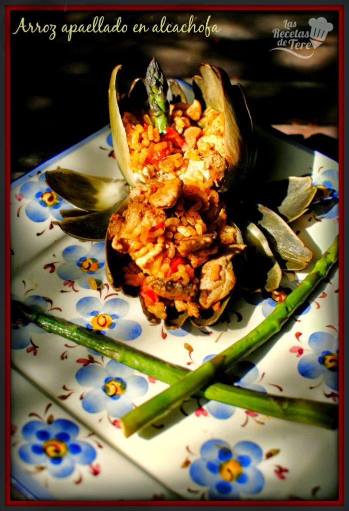 arroz apaellado en alcachofa tererecetas 05
