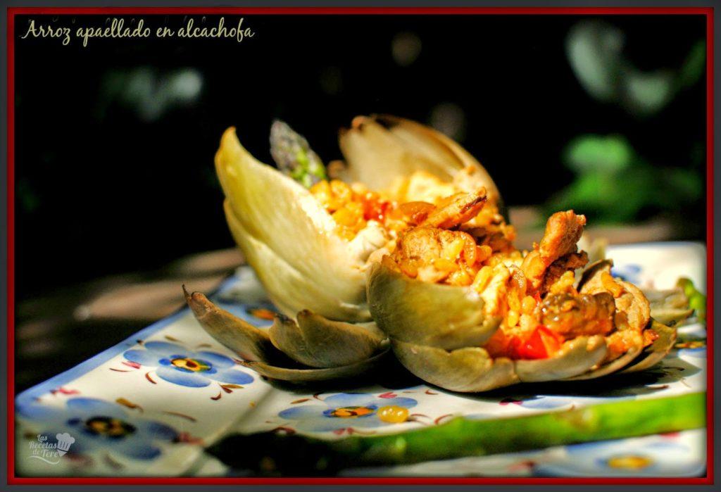 arroz apaellado en alcachofa tererecetas 06