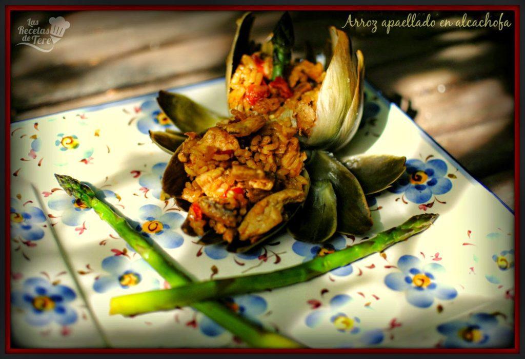 arroz apaellado en alcachofa tererecetas 04