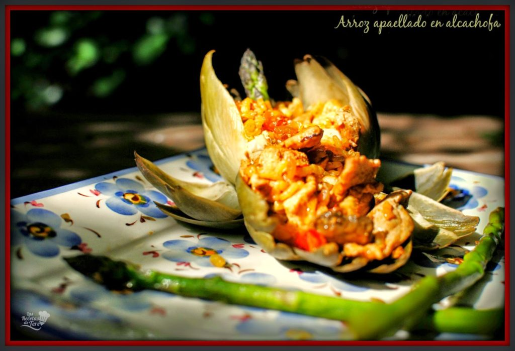 arroz apaellado en alcachofa tererecetas 02