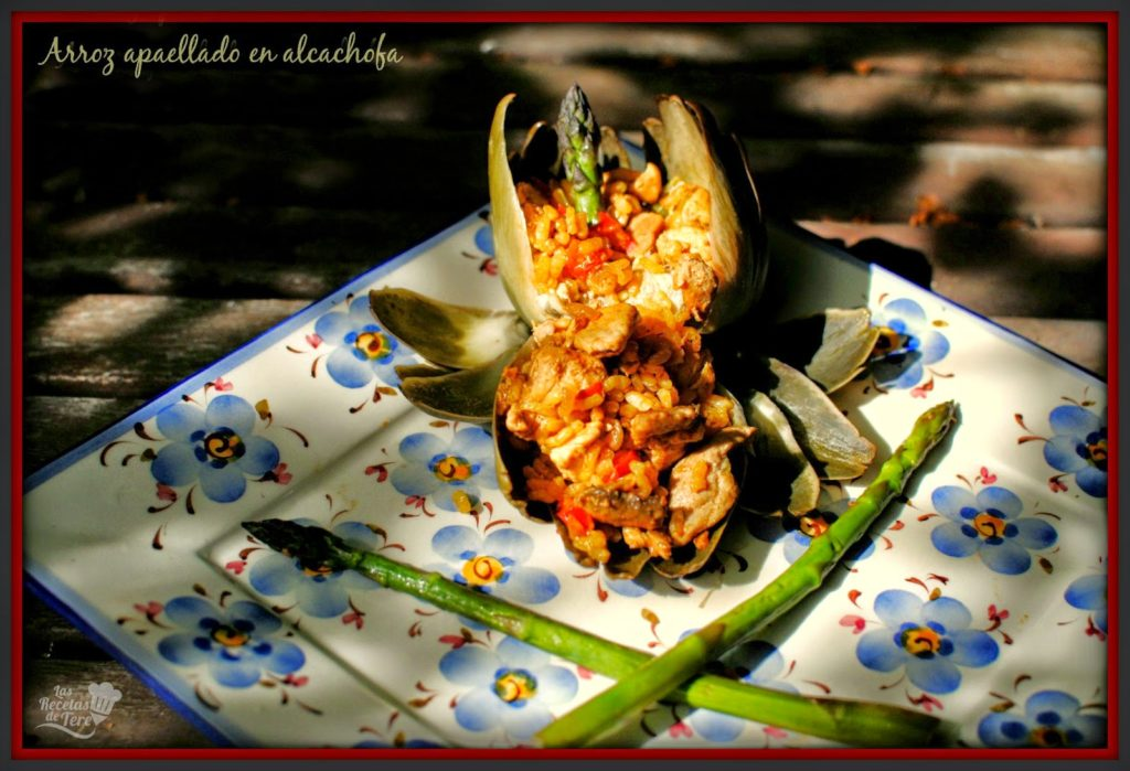 arroz apaellado en alcachofa tererecetas 01