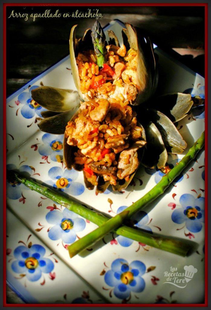 arroz apaellado en alcachofa tererecetas 03
