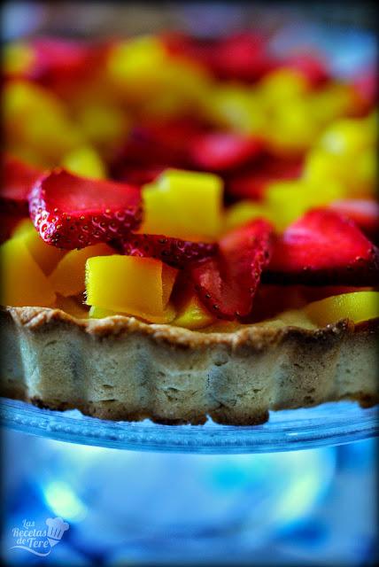 Tartaleta de mango y fresas tererecetas 02