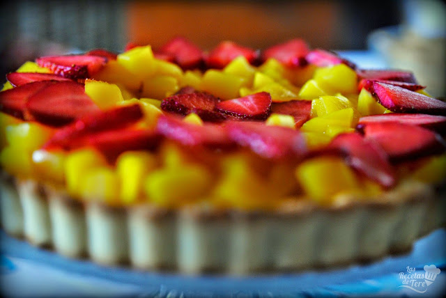 Tartaleta de mango y fresas tererecetas 01