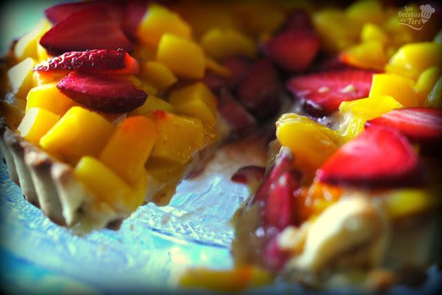 Tartaleta de mango y fresas tererecetas 06