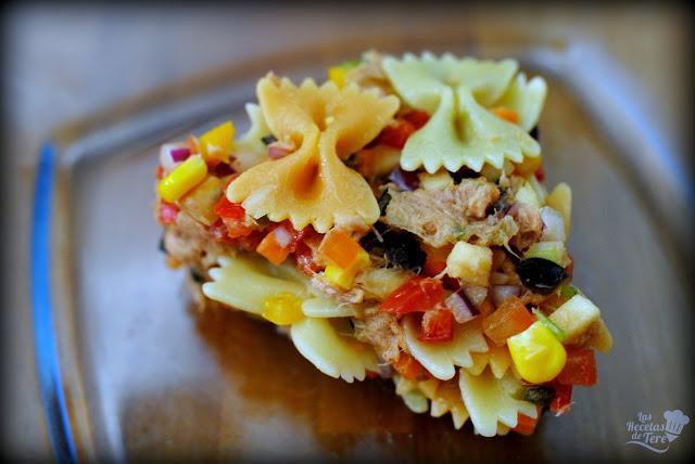Ensalada de pasta atún y vegetales tererecetas 06