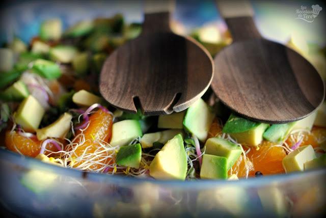 Ensalada exotica de brotes, liches y mandarina tererecetas 07