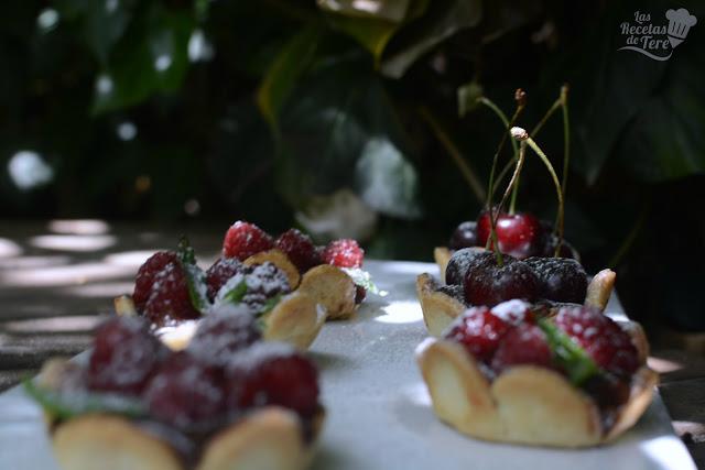 Tartaletas de frutos rojos y chocolate las recetas de tere 01