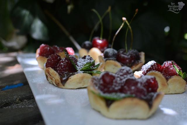 Tartaletas de frutos rojos y chocolate las recetas de tere 06