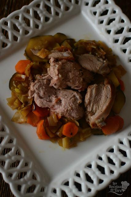 Pierna de cordero lechal en cama de verduras tererecetas 02