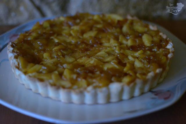 Maravilloso pastel de manzana con crema pastelera tererecetas 06