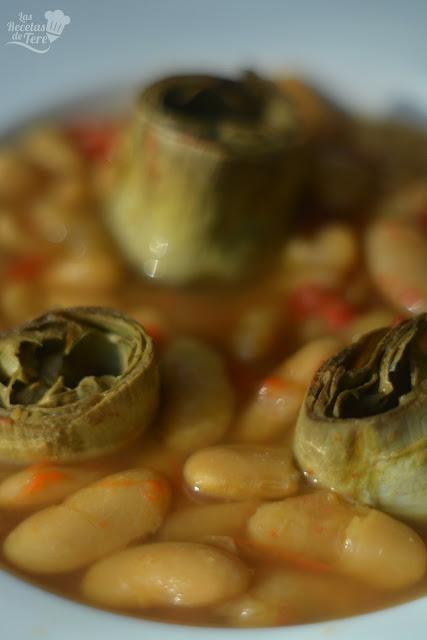 Alubias blancas astiruanas con alcachofas tererecetas 04