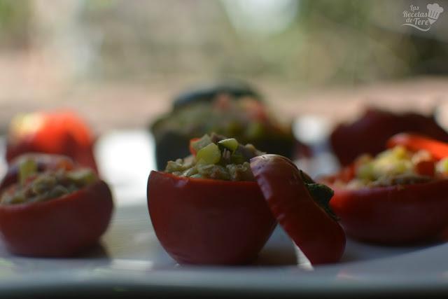 Pimientos cherry rellenos con guiso de vegetales y atún tererecetas 04