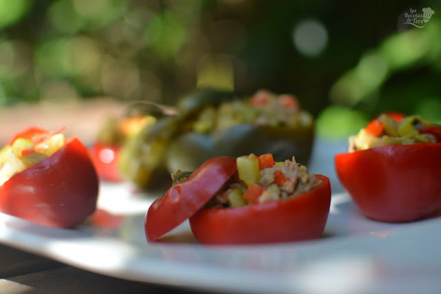Pimientos cherry rellenos con guiso de vegetales y atún tererecetas 06
