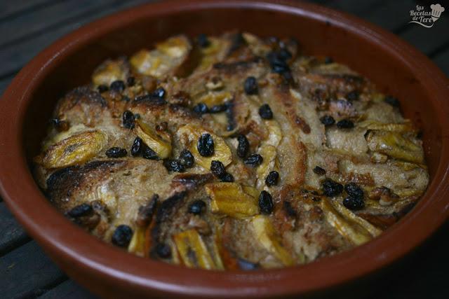 Pseudo torrijas con plátano y uvas pasas tererecetas 05