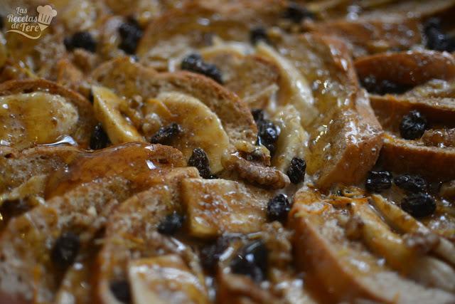 Pseudo torrijas con plátano y uvas pasas tererecetas 02