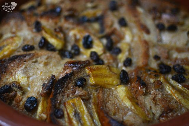 Pseudo torrijas con plátano y uvas pasas tererecetas 04