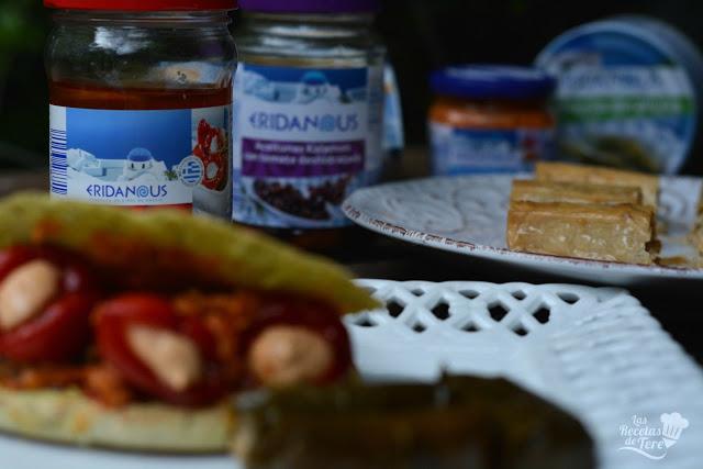 Gyros rellenos de guindillas con queso feta y aceitunas kalamata con tomate seco tererecetas 03