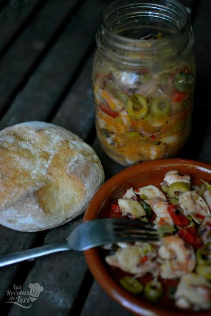 receta de salpicón de langostinos y rejos tererecetas 02