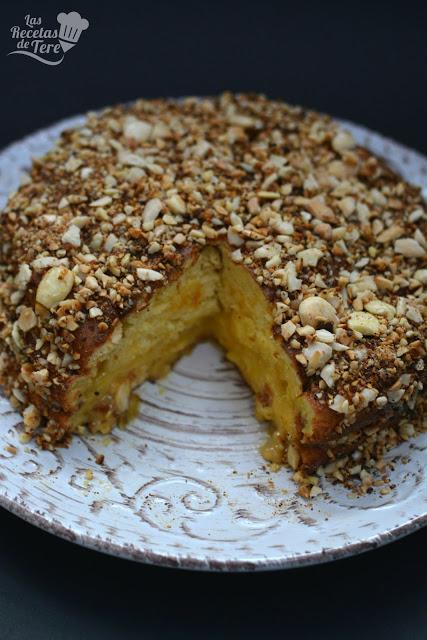 receta facil bizcocho relleno con crema a la naranja 02