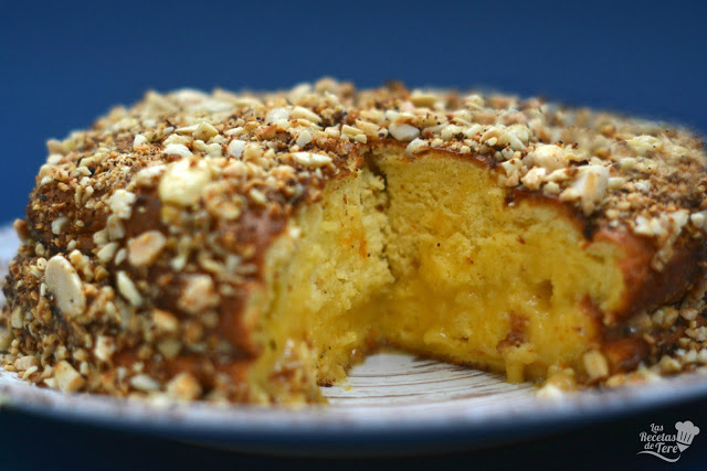 receta facil bizcocho relleno con crema a la naranja 03