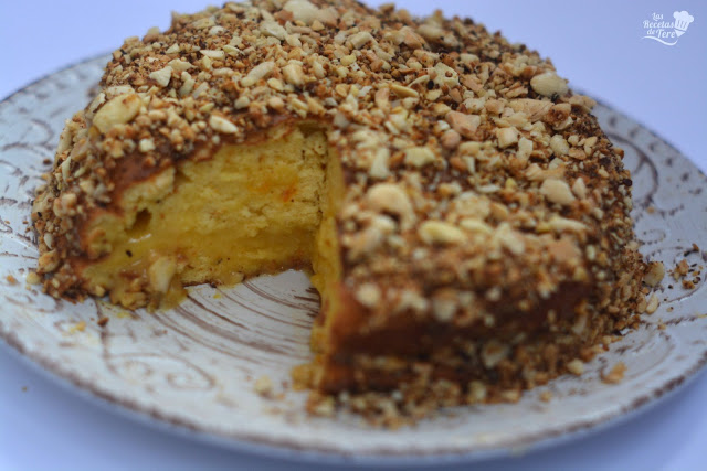 receta facil bizcocho relleno con crema a la naranja 05