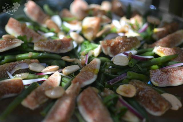 como hacer ensalada de judias verdes e higos 02