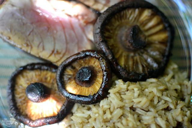 receta fácil tataki de atún rojo con arroz y setas a la plancha 04