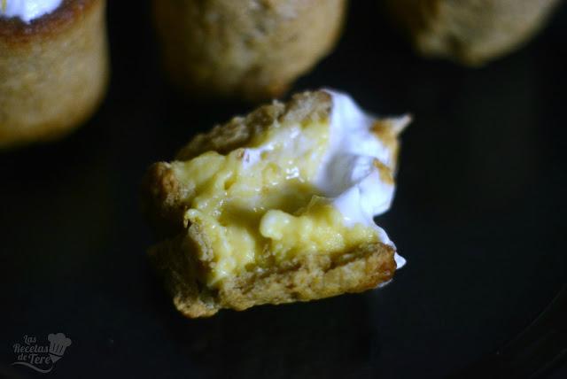 Timbal de galleta rellena con crema pastelera 02