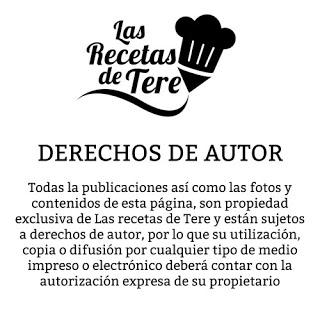 DERECHOS DE AUTOR LAS RECETAS DE TERE