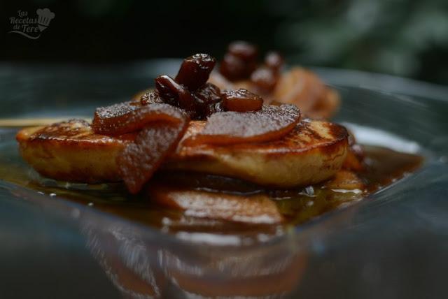 Foie Gras con manzanas al moscatel 01
